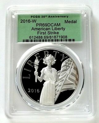 2016-W Proof American Liberty Silver Medal - 30th Anniversary - PCGS PR69 DCAM