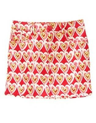 Gymboree Play By Heart Pink Hearts Skirt 4 5 6 7 8 Nwt Valentines Day