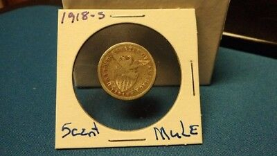 1918-S 5 Centavos Mule !!! Never See These Listed Very Hard To Find !!