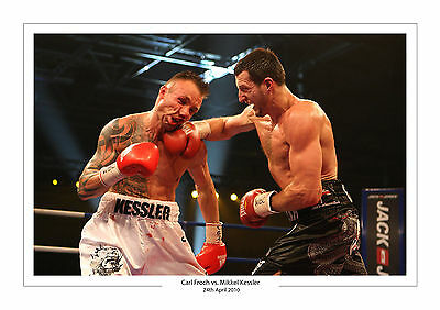 Carl Froch vs.MIKKEL KESSLER A4 Aufdruck Foto Box April 24. 2010 2