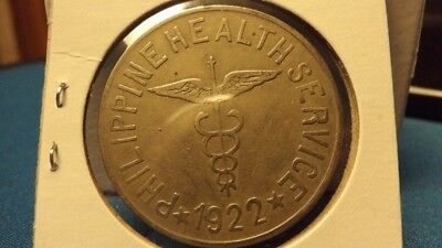 1922 Culion Leper Colony Philippine Islands Health Services One 1 Peso Coin