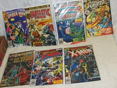 7 Issues of Vintage 20 Cent & Other Comics, in Protective Sleeves  NIP (L126
