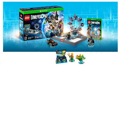 Lego Dimensions Starter Pack for Xbox One combo pack with Aquaman Lego Fun Packs
