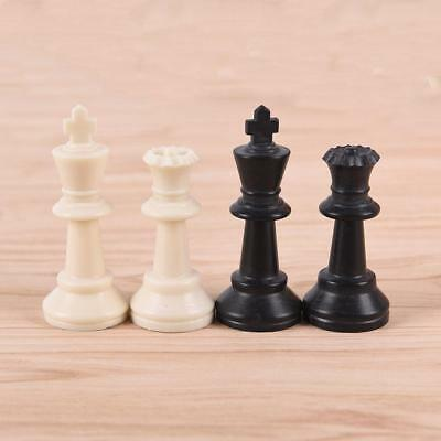32x/set Chess Pieces/Plastic Complete Chessmen Entertainment Game Black&White LG