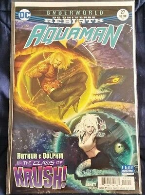 Aquaman #27 Rebirth with Dolphin by Abnett & Sejic NM 1st Print