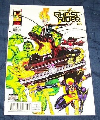 """Ghost Rider #5 (2017) NM Totally Awesome Hulk Wolverine Silk """"Four on the Floor"""""""