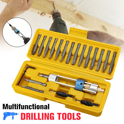 20x/Set Half Time Drill Driver Swivel Head Quick-Change Drilling to Driving Tool