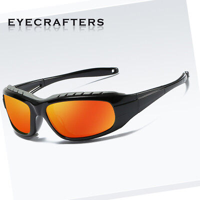 Wind Proof Polarized Sport Sunglasses Outdoor Cycling Bike Wrap Around Goggles