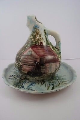 Hand Painted Contemporary Baroque Style Porcelain Pitcher , Water Jug and Plate