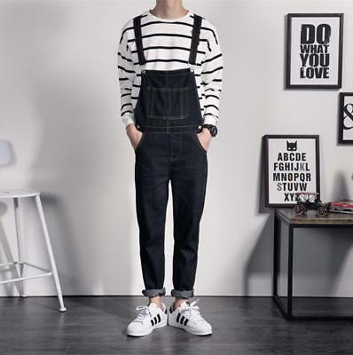 Joggers Running Dungarees Pants Mens Overalls Jumpsuit Tooling Denim Trousers