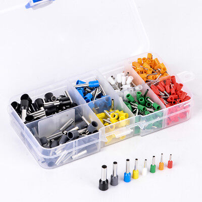 400 Pcs Kit Terminal Bootlace Ferrule Insulated Cable Wire Pin Ends Assorted Mix