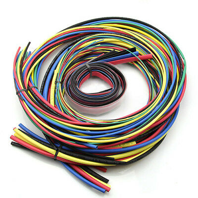 55M/Kit Heat Shrink Tubing 11 sizes Colourful Tube Sleeving Wire Cable 6 Colors