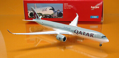 Herpa Wings 530675 Qatar Airways Airbus A350-900 - A7-ALC - Scale 1/500