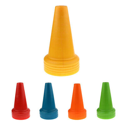 5 Pieces Safety and Security Cones Outdoor Games Plastic Traffic Cones