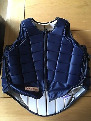 Racesafe equestrian body protector RS2000 Childs XL navy excellent condition