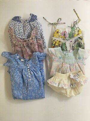 Baby Dresses (x3) & Outfit (x2) Bundle - Bebe, Fred Bare & Country Road. Size 1