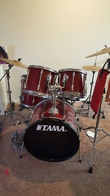 Tama Rockstar 5pc Drum Kit paiste zildjian cymbals - win in time for Christmas!