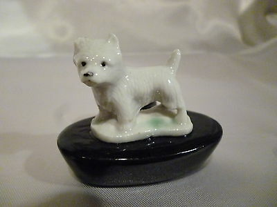 Wade Zoo-Light of a West Highland Terrier on Black Candle Holder C:1959
