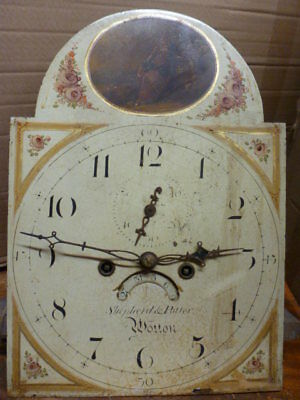 Original 8 day longcase clock movement & dial by Shepherd & Potter of Wotton