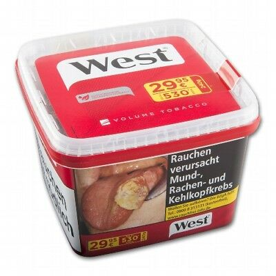 6 x 185g West rot Volumentabak/ West red Volume Tobacco Tabak Eimer