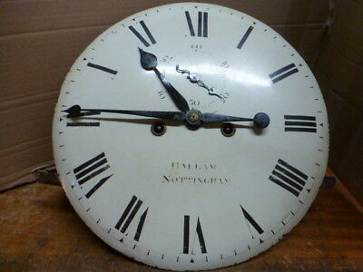 Original 8 day tavern wall clock movement & convex dial by Hallam of Nottingham