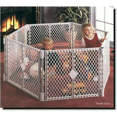 NORTH STATES SUPERYARD XT Baby/Pet Gate & Play Yard (Open Box)