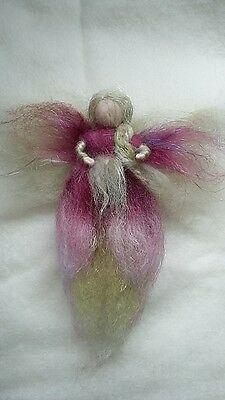 Beautiful felted fairy, unique, hand made,  gift 20cm christmas tree natural