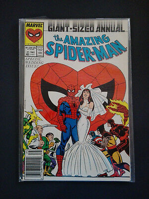 The Amazing Spider-Man Wedding Annual #21 Peter Parker Variant (1987, Marvel)