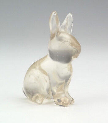 Antique Chinese Carved Rock Crystal - Oriental Rabbit or Hare Figure