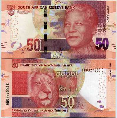 South Africa 50 Rand Nd 2016 / 2017 P 140 Lion Kganyago Unc