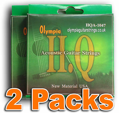 TWO PACKS Olympia Acoustic 10-47w HQ Guitar Strings