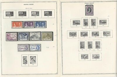 Sierra Leone Collection 1859-1963 on 11 One-Sided Minkus Specialty Pages