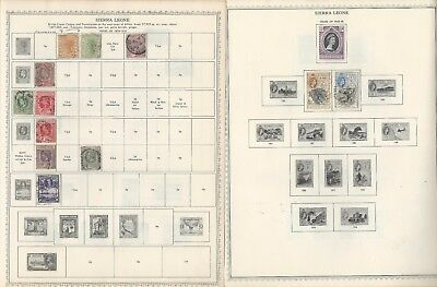 Sierra Leone Collection 1876 to 1971 on 10 Minkus Global Pages