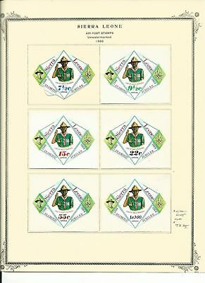 Sierra Leone Collection 1969-71 on 5 Scott Specialty Pages, Mint Sets, Scouts
