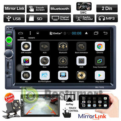 "7"" Double 2Din Bluetooth Car Stereo Radio FM/MP5 Player HD Touch Screen In-Dash"