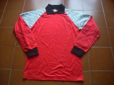 "Rare Original Unbranded Goalkeeper Shirt Red 70 80 Italy New 3-S 42-44 38"" Vtg"