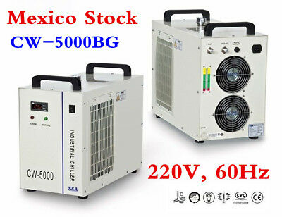 Mexico! 220V S&A CW-5000BG Industrial Water Chiller for 80W/100W CO2 Laser Tube