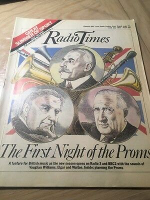 Radio Times. First Night Of The Proms. 14-20 July 1984