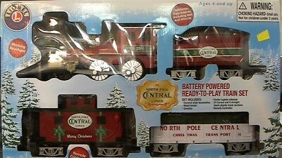 Lionel 7-11729 G North Pole Central Battery Ready-to-Play Freight Set