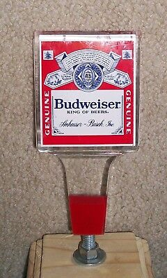 Budweiser Beer Tap Handle Shorty Acrylic