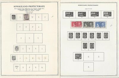 Somaliland Collection 1903-1960 on 7 One-Sided Minkus Specialty Pages