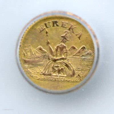 Scarce 1886 California Gold Charm - Arms of Calif / Certified Genuine HR6