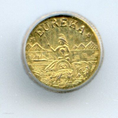 1875 Arms of California Gold Token Charm / ICG MS63 HR6