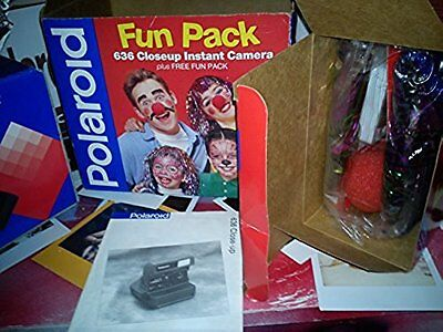 MEGA RARE AS N E W Polaroid 636 FUN PACK NIB+ 1 NEW FILM