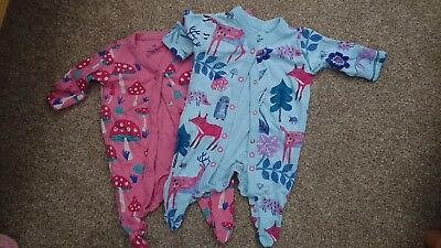 Next first size girls sleepsuits forest theme