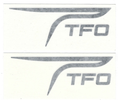 "Temple Fork Fishing Decals Stickers 6-1/4"" Long Size Set of 2 Black Diecut"