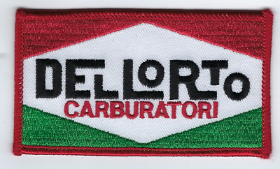 "Del Lorto Racing Jacket Patch 4""x2.25"" Sew On US FREE SHIPPING"