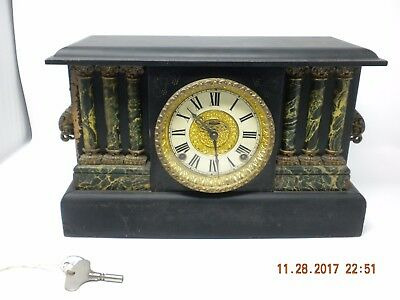 Antique E. Ingraham Co. Mantle Clock