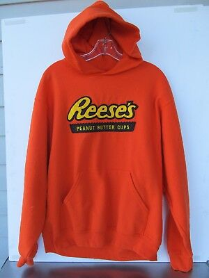 Reeses Peanut Butter Cups Hooded Sweat Shirt Hoodie Size Large free Shipping