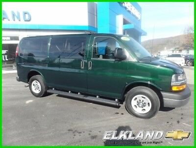 2016 Chevrolet Express 12 Passenger Only 3000 Miles 6.0 V8 Green Only 3000 Miles 12 Passenger Van Green 6.0 V8 Tow Pkg Front & Rear Air & Heat